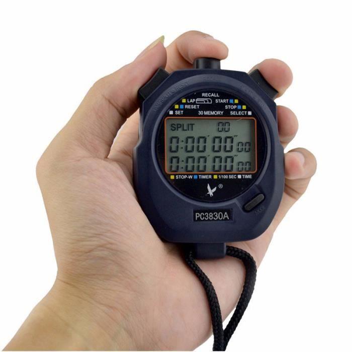 Chronomètre professionnel - Chronomètre, chronomètre à main sportif, compteur numérique, minuterie cronome - Modèle: - HSCFDSB03753