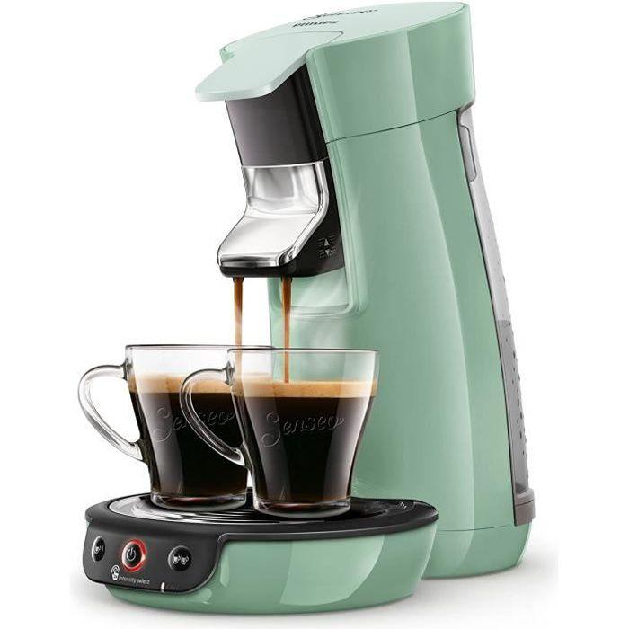 Senseo Viva Cafe HD6563/60 Machine à café à dosettes, Crema Plus, Réglage de la force du café Sans détartrant liquide vert