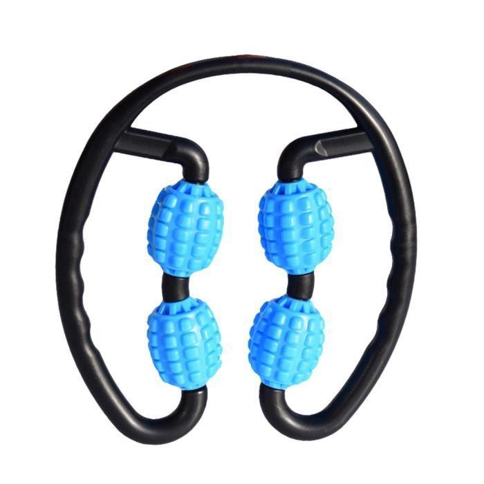 Rouleau de Massage pour Bras de Jambe Cou Masseur à 360 ° Outil de Relaxation Complète du Corps Yoga Fitness Roues Rouleaux Mousse