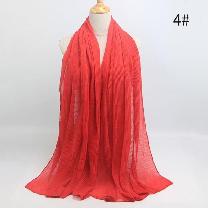 Foulard hijab en coton froissé, écharpe douce, écharpe chaude, écharpe chaude, châle, 25 couleurs, Design hiver, tendanc DY5180
