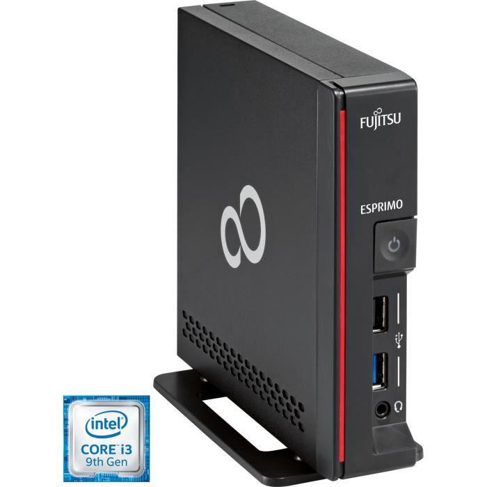 Fujitsu PC complet ESPRIMO G558 Intel® Core™ i3 de 9e génération i3-9100 8 Go DDR4-SDRAM 256 Go SSD Noir UCFF Mini PC