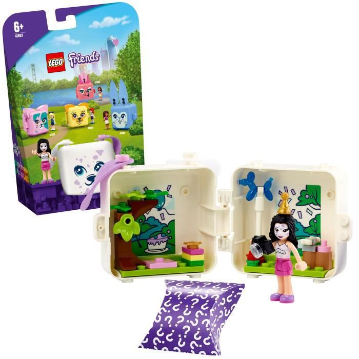 LEGO® Friends 41663 Le cube dalmatien d'Emma Jouet sur le thème des chiots incluant une figurine Emma, décoration chambre
