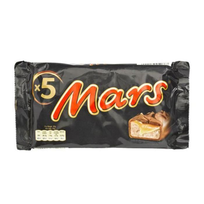 MARS WRIGLEY CONFECTIONERY FRANCE Barres chocolatées Legend fourrées de confiserie et caramel - 5x45 g
