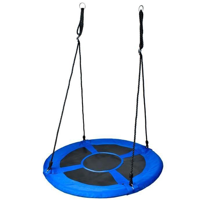 Balançoire nid pour enfant, hauteur réglable, assise large Ø 60 cm