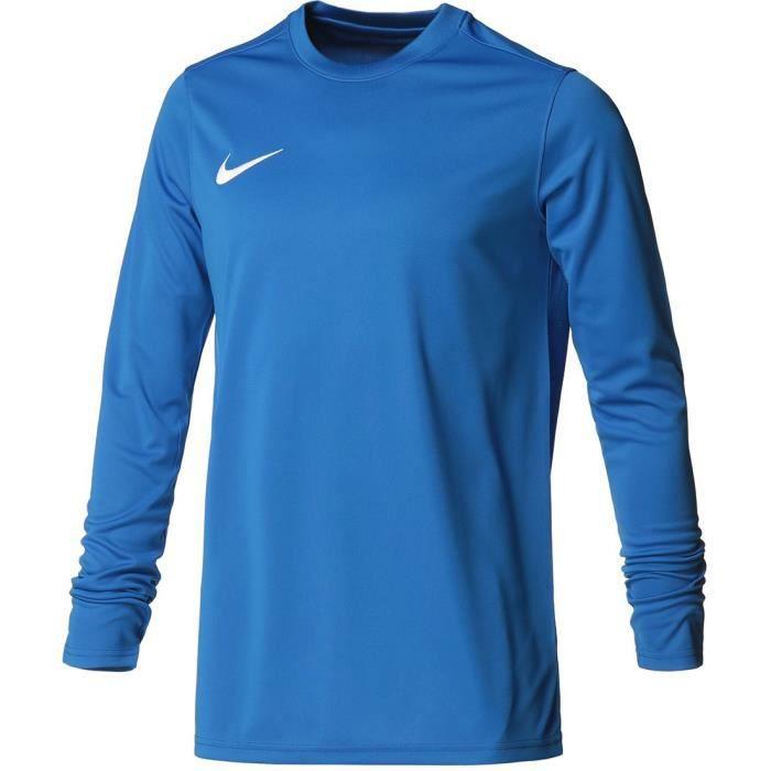 NIKE Maillot de football Dri-fit Park VII - Homme - Bleu et blanc