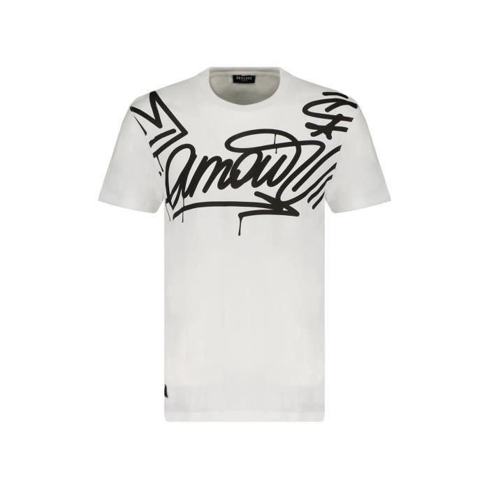 DEELUXE T-shirt imprimés graffitis LIEBE White