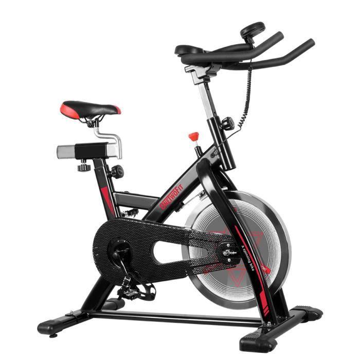 OneTwoFit Vélo Biking spinning d'Exercice d'Intérieur d'appartement Cyclisme Vélo Stationnaire Maison Entraînement Gym Cardio OT124