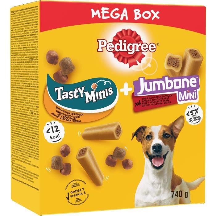 PEDIGREE Mega box récompenses tasty mini et jumbone mini - Pour chien - 740 g