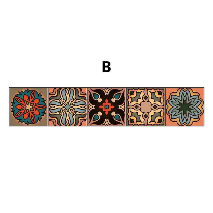 @M9521 Autocollants de Tuile en Style Marocain Stickers Mural Creative Autocollant Carrelage Stickers à Motifs en Couleurs Adhésif