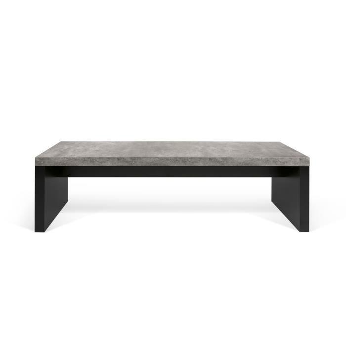 Banc DETROIT Béton Noir Dimensions: 140cm x 38cm x43cm