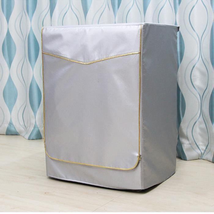 Housse de Protection Pour Anti-poussière Machine à laver Couvercle Durable (d'or)XL