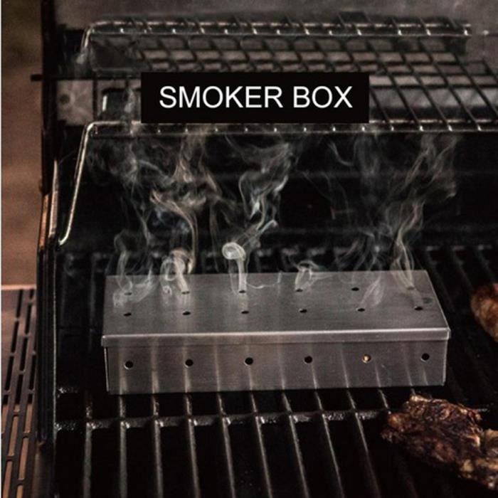 Barbecue Outil Barbecue froid Générateur de fumée barbecue en copeaux de bois fumeur Box Grill