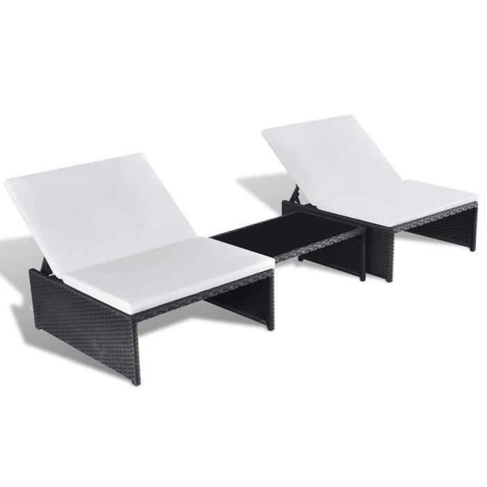 Ensemble Rotin Jardin Noir Places 2 Synthetique De P14 Mobilier VMpqUSz