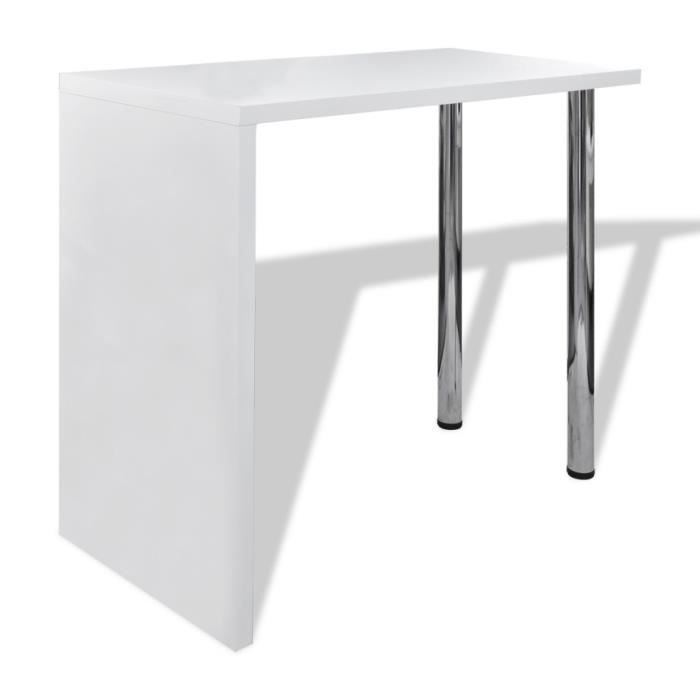 magnifique table blanche vernissee table de bar 2 pieds achat vente mange debout magnifique. Black Bedroom Furniture Sets. Home Design Ideas