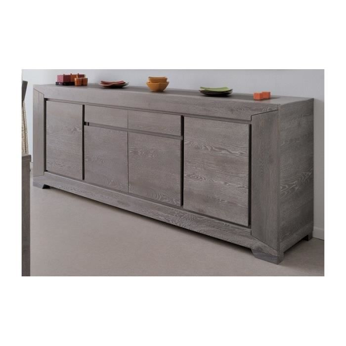 S jour bruges ch ne gris buffet 4p et table rectangulaire for Table a manger et buffet