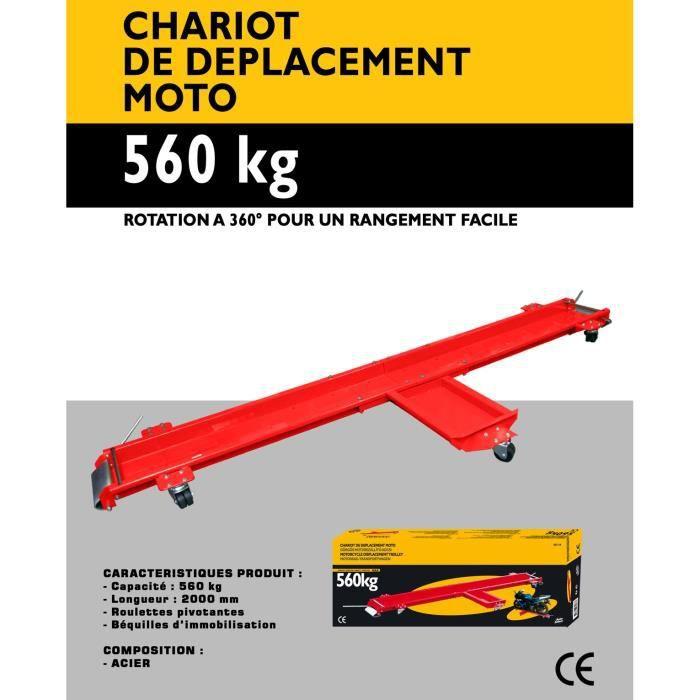 Autoselect Chariot De Deplacement Moto 560 Kg Achat Vente Organisation Atelier Chariot De Deplacement Moto Cdiscount