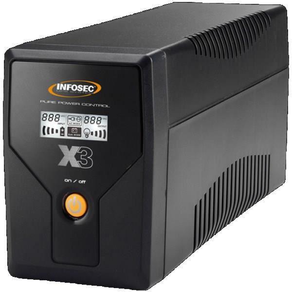 ONDULEUR INFOSEC UPS SYSTEM Onduleur X3 EX 650 - LCD - USB