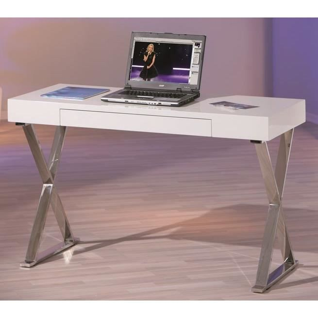 bureau blanc simple grace achat vente bureau bureau ForBureau Simple Blanc