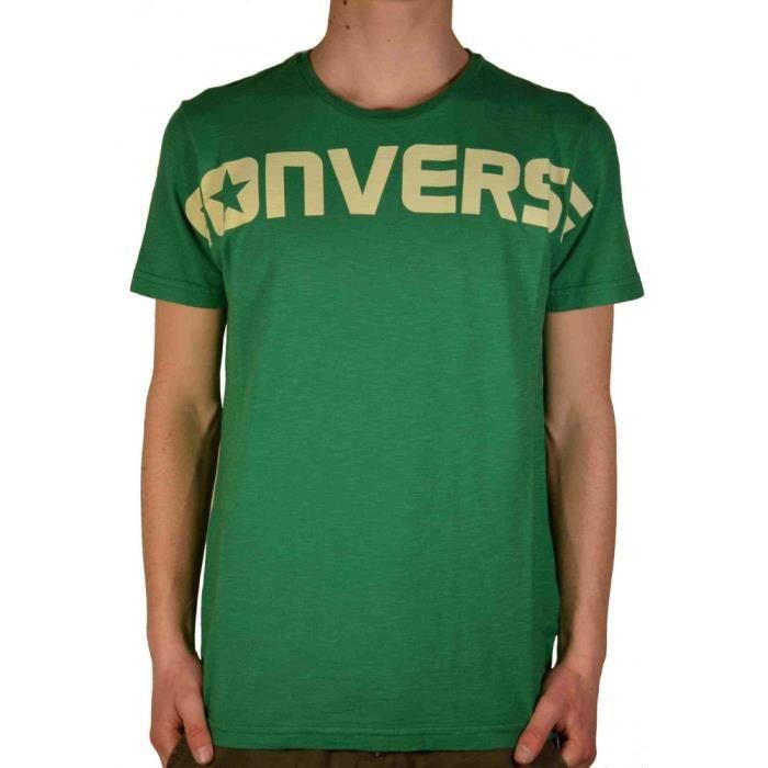 tee shirt vert converse