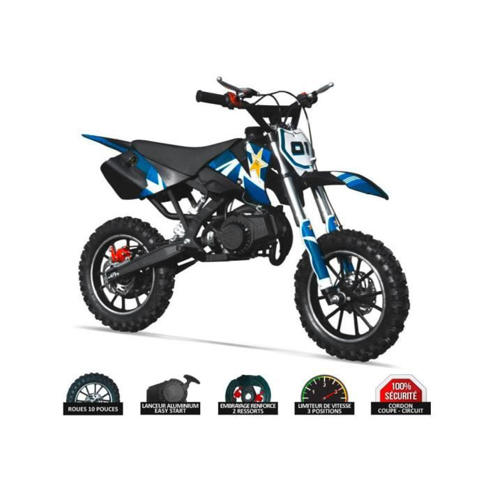 moto enfant rx49 50cc rockstar bleu achat vente. Black Bedroom Furniture Sets. Home Design Ideas