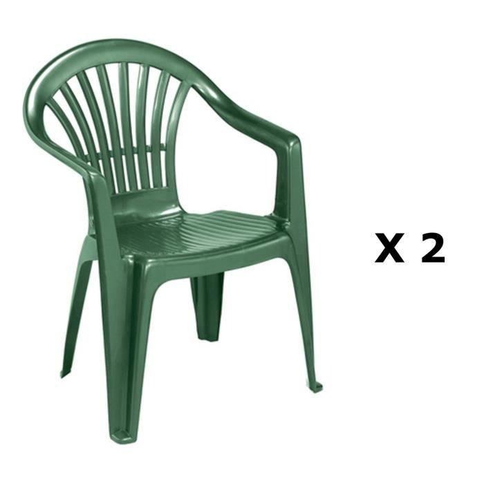 2 chaises de jardin altea plastique