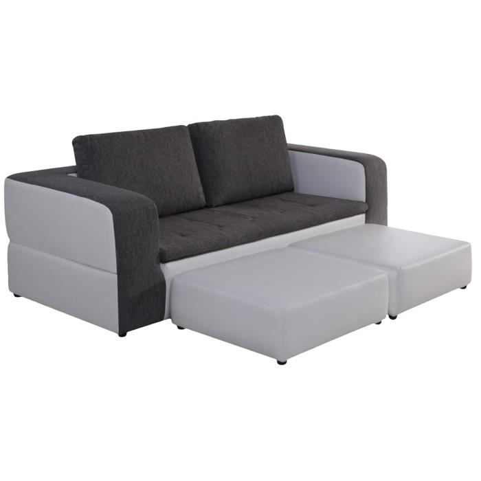 canap 3 places convertible et 2 poufs switsofa achat. Black Bedroom Furniture Sets. Home Design Ideas