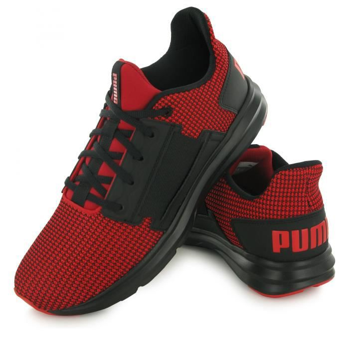 Puma Enzo Street Knit rouge, baskets mode homme