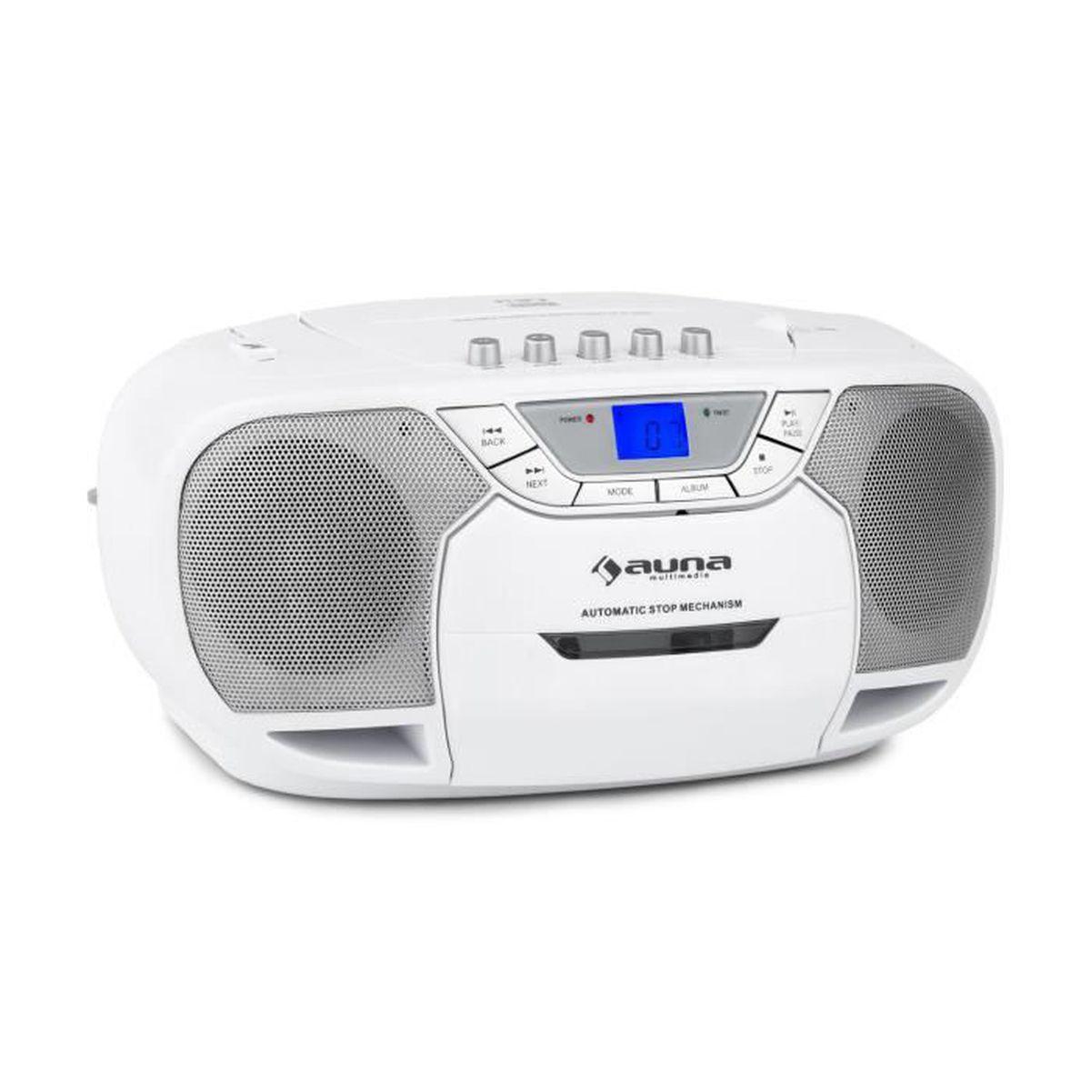 RADIO CD CASSETTE auna BeeBerry Boom Box Ghettoblaster - Radio porta