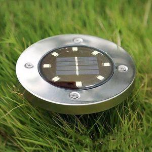 LAMPE DE JARDIN  2pcs 8 LED Solaire Extérieur Solaire Lampe À Gazon