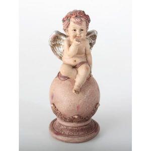 Ange assis 14,5 cm endormi dorée AILES moulés personnage ange personnage