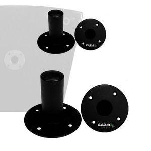 SUPPORT ENCEINTES SONO 4 adaptateurs ronds: fixation d'enceintes sur pied