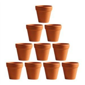 2 x 28 cm Jardin Bell Pot Terre Cuite Rond Jardiniere de Jardin Fleur Plante Pot Bac NEUF