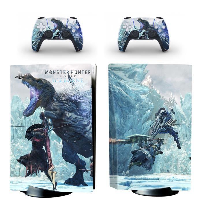 Monster Hunter World Iceborne PS5 Sticker Skin Peau d'autocollant de protection pour PS5 Playstation 5 Console et 2 contrôleurs 03
