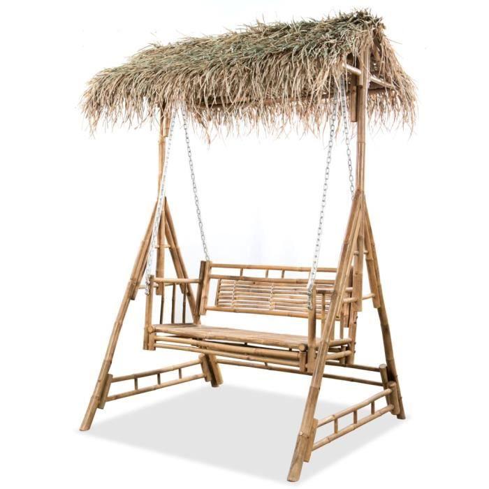 🐠🐠6214Super - Balancelle de Jardin Balancelle de jardin à 2 places avec feuilles de palmier style contemporain- Balancelle d'extér