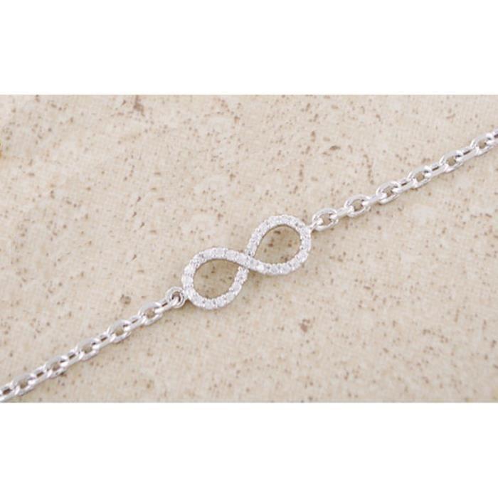 Bracelet - Infini Premium - Argenté