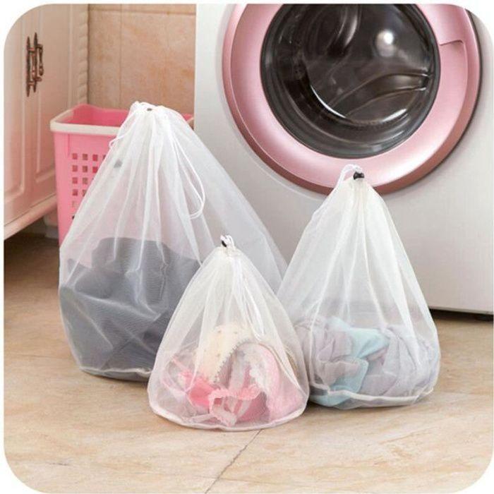 Grand sac à linge épais, 3 tailles en option, filet pliable, filtre, soutien-gorge, chaussettes, soins, accessoires pour [C401209]