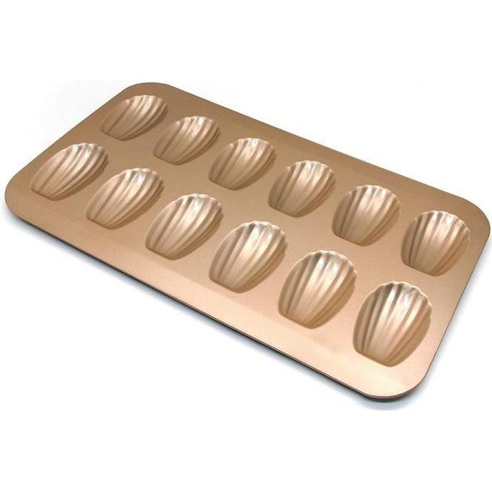 Moules à madeleines en acier inoxydable à 12 trous pour gâteau, gelée, pudding, mousse, pâtisserie, bricolage,