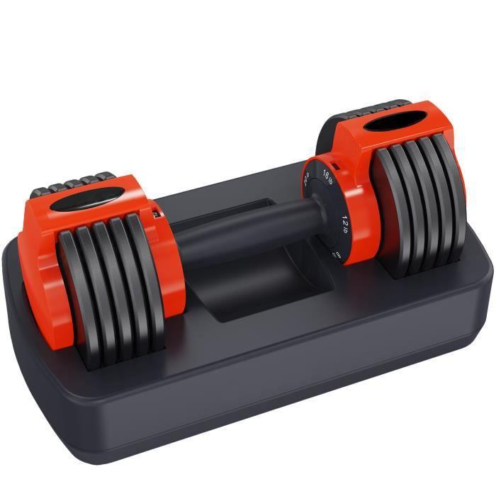 GEARSTONE Haltère réglable, Haltère Emsemble réglable, Haltère simple, Haltère Poid musculation YL11 (3,6 kg - 10,8 kg)
