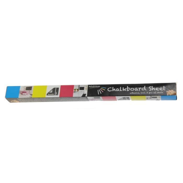 Free and Easy papier d'aluminium noir pour tableau noir 45 x 200 cm