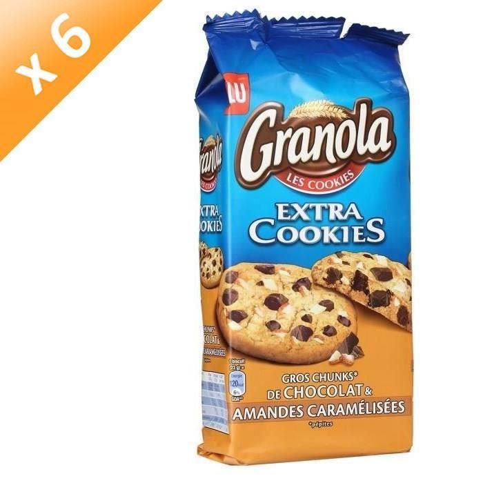 [LOT DE 6] Biscuits chocolat et amandes 184g Granola