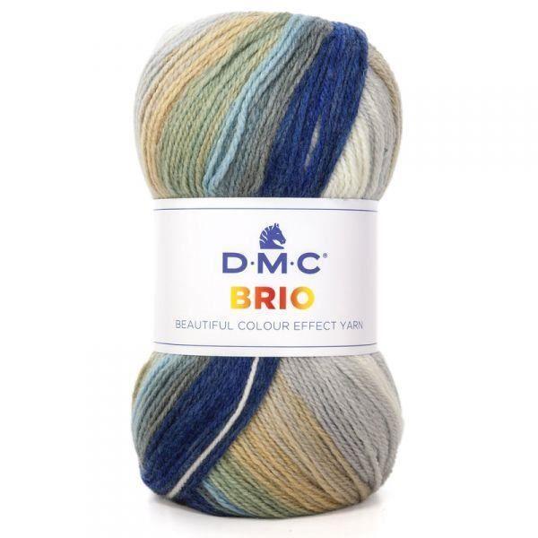 Laine BRIO, DMC 401 Beige bleu