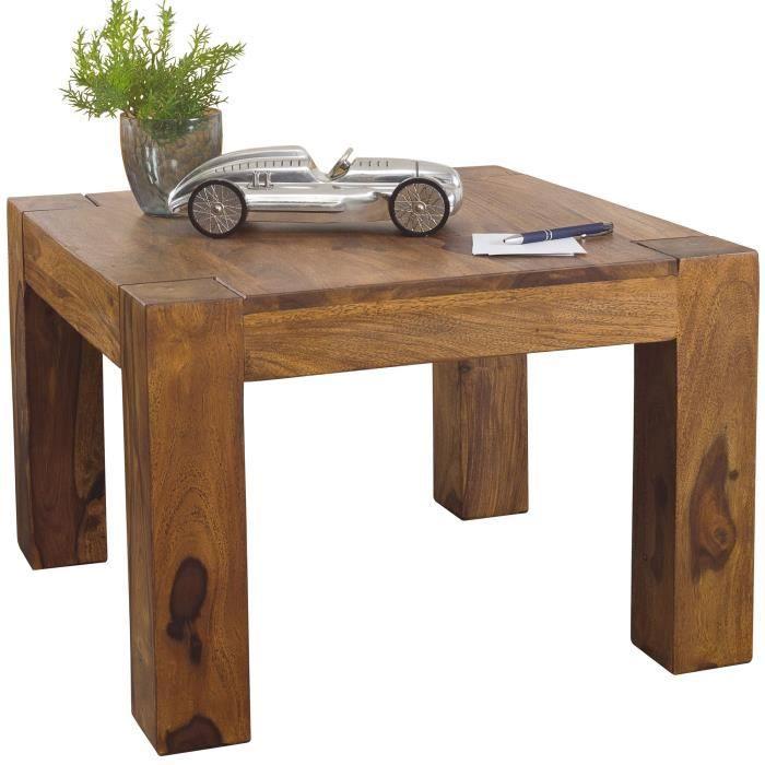 FineBuy Table Basse Bois Massif 60x40x60cm Table d'appoint Table de salon Design [Sheesham]