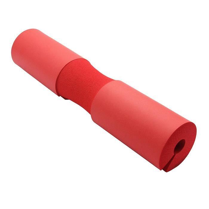 HOYML Barbell Pad Manchon à Squat en Mousse - Support de Nuque - Epaule Protection pour Squats Lunges (Rouge)