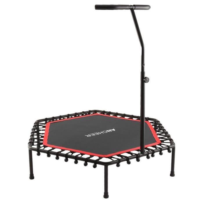 Trampoline de Fitness Trampoline de Gym - Poignée réglable - Rouge