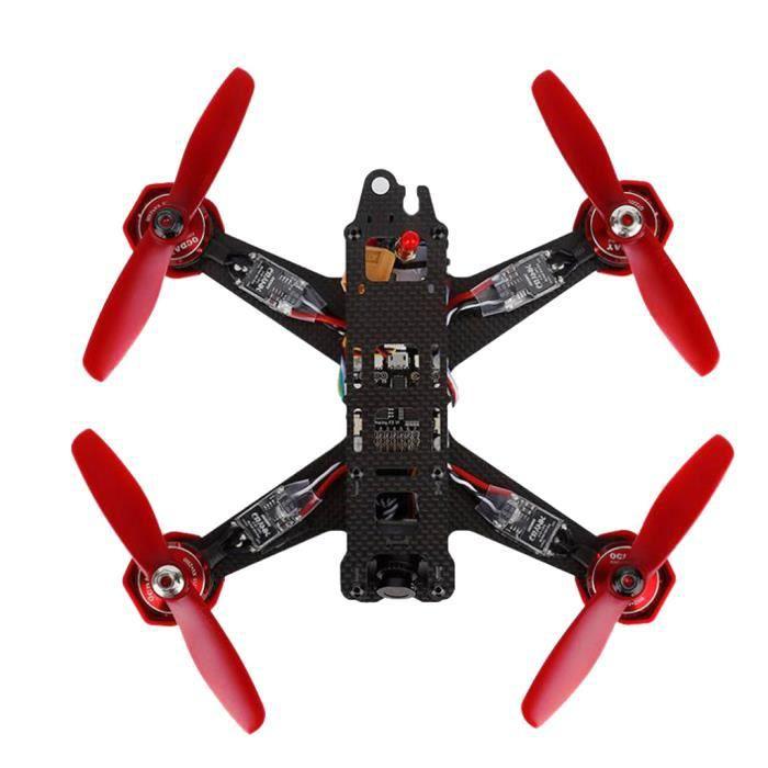Set OCDAY RAZER 210 Fibre de Carbone Racing Drone Quadcopter avec Flysky Fs-I6 RTF 6 Canaux Jouet Cadeau Enfant