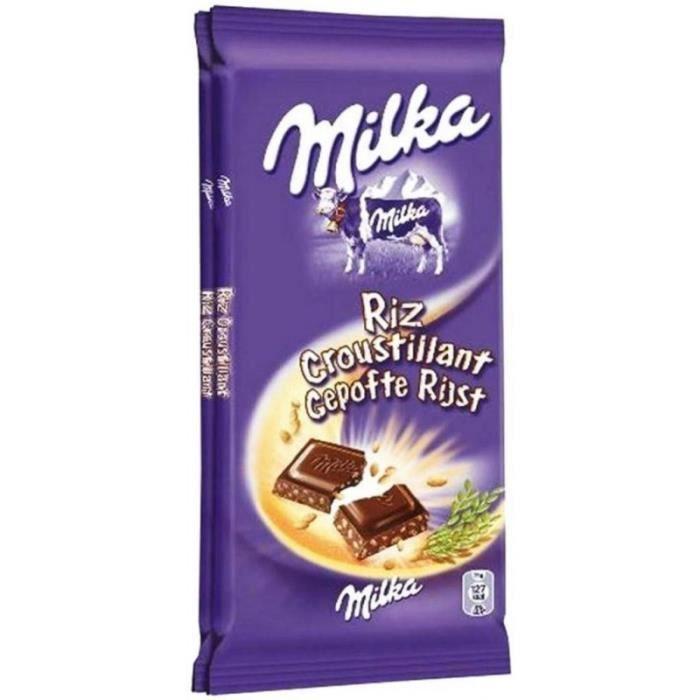 Milka Riz Croustillant 200g (lot de 6) (Lot économique de 6 tablettes)