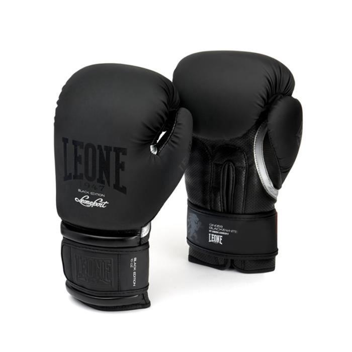 LEONE Gants de boxe Black&White - Homme - Noir