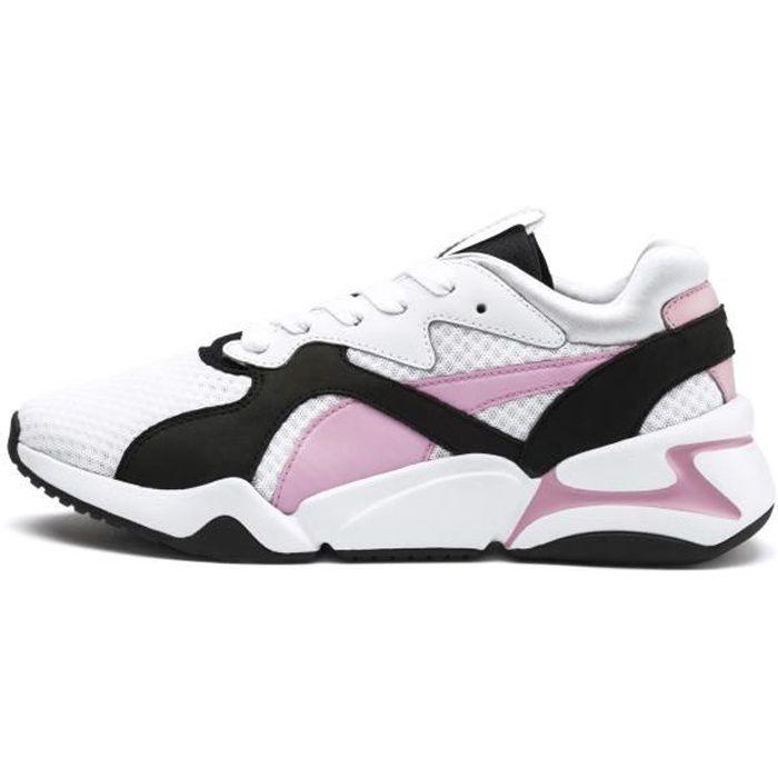 PUMA Baskets Nova 90's Bloc Blanc/Rose - Femme