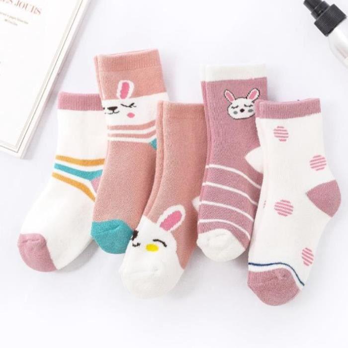 chaussettes - soquettes Rose5 Paire 1-10 ans Confort chaud coton de haute qualité Chaussettes fille EnfantWZ*1834