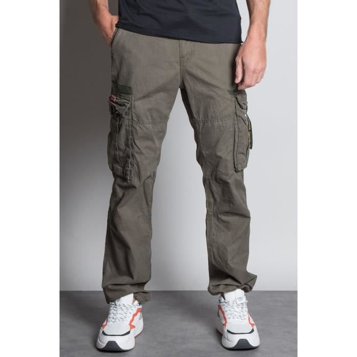 DEELUXE Pantalon cargo avec ceinture TROPERY Olive